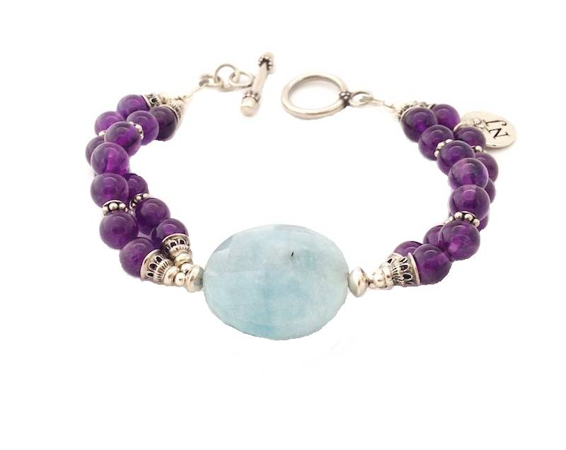 Milky aquamarine and amethist, Heavenly Purple