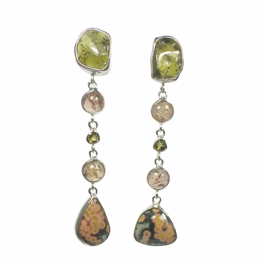 Special edition Tourmaline, ocean jasper and imperial topaz