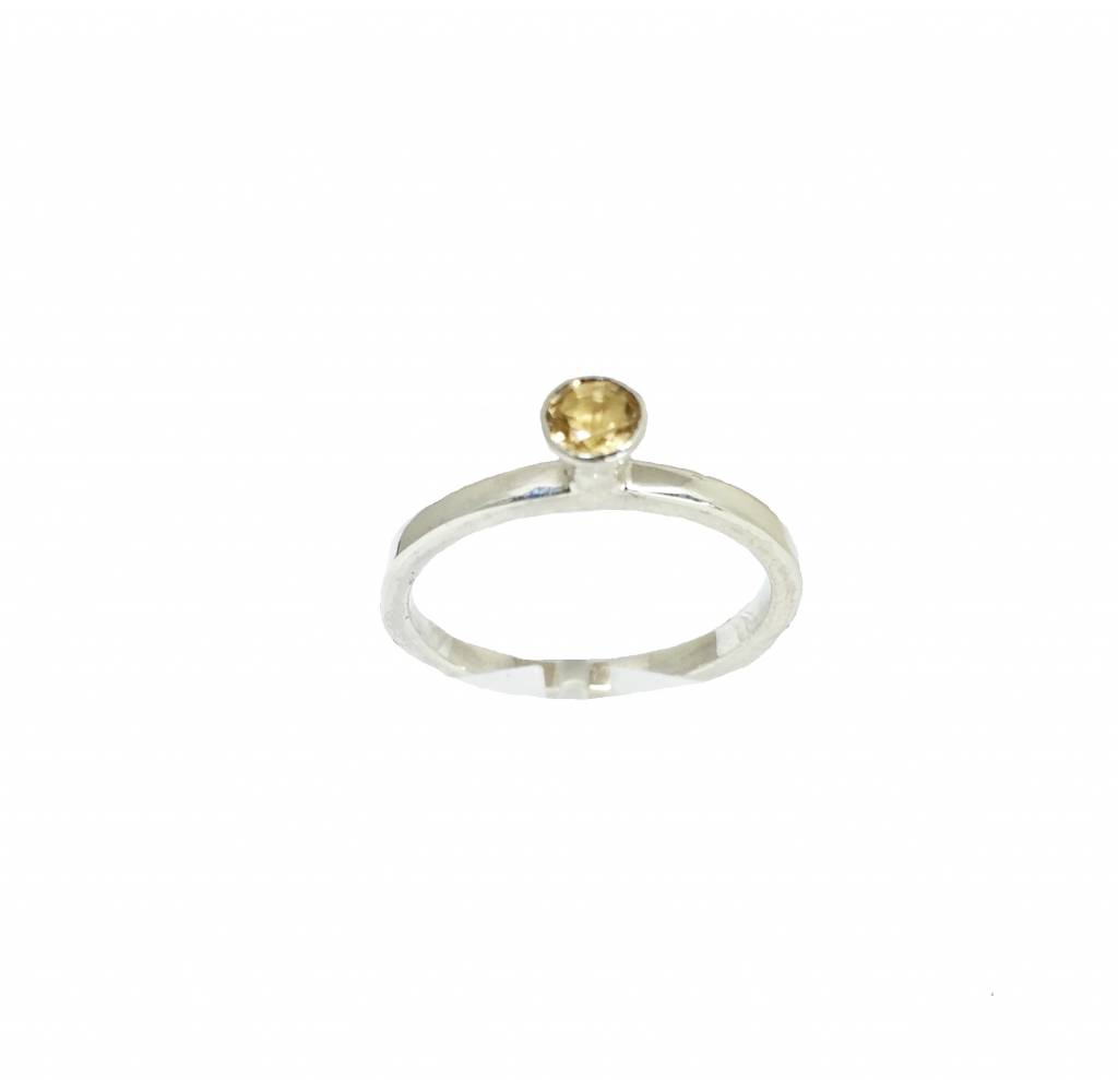 NJ Bali stack rings  Citrine