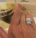 NJ Bali stack rings Amethyst (round)