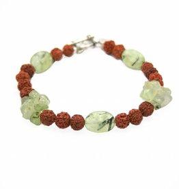 Spiritual jewelry Bracelet prehnite rudraksha