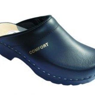 Clog in black with open heel
