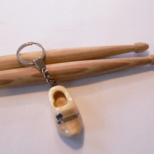 keychain with a wooden shoe 4cm with LOGO