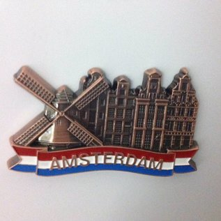 Magnet Amsterdam canal bronze