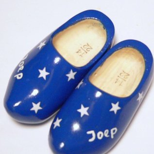 birth Clogs with text