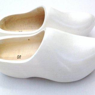 Holzschuhe Weiß