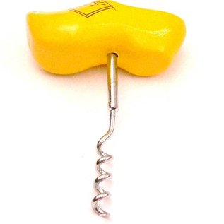 Corkscrew wooden shoe yellow
