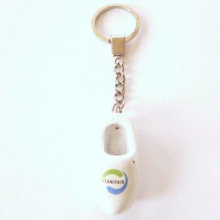 Holzschuhe Schlüsselanhänger mit LOGO