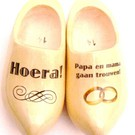 Wedding wooden shoes