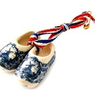 Broche / corsage klompjes Delfts blauw