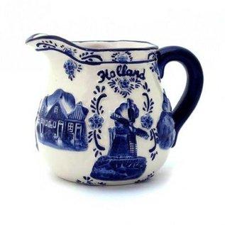 Milchkännchen Delfter Blau | Original-Delft Blau Milchkännchen mit dem niederländischen Bild