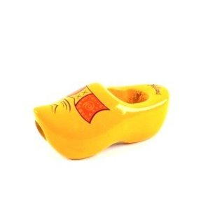 Das Clog im der farbe gelb