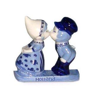 Magnet delftblue Delfter Blauw mit  Küssende Paar
