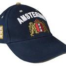 Blaue Kappen mit dem Amsterdam Waffe