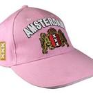 roze caps voorzien van het Amsterdam Wapen