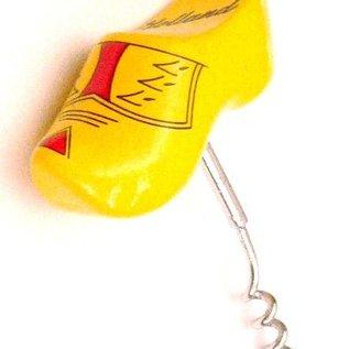 Korkenzieher-Holzschuh gelb