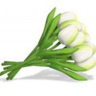 Bouquet Holz Tulpen in weiß 20cm