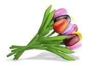 Houten tulpen 20 cm