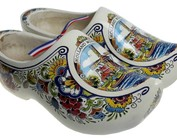 Wooden shoes with windmill