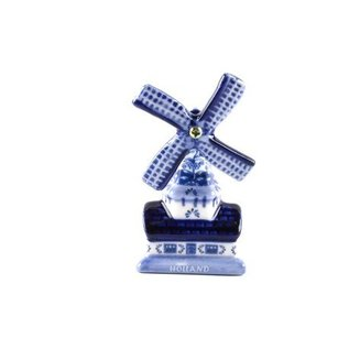 magnetic delft Blue with a Dutch windmill
