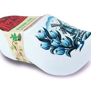 klompje met bloemetjes Delftsblauw