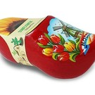 Clogs with flowers red