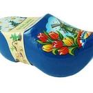 klompje met bloemetjes blauw