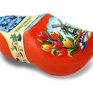 Clogs mit Blumen Orange