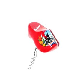 souvenir corkscrew clog red