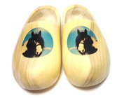 Dutch woodenshoes with a horse