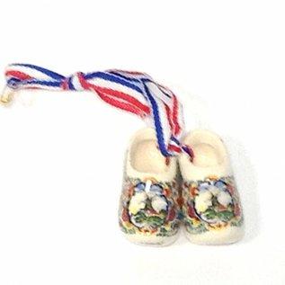 Brosche / Corsage souvenirsclogs farbig