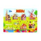 wooden puzzle board tulip design Holland
