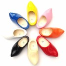 Colored pointed children wooden shoes