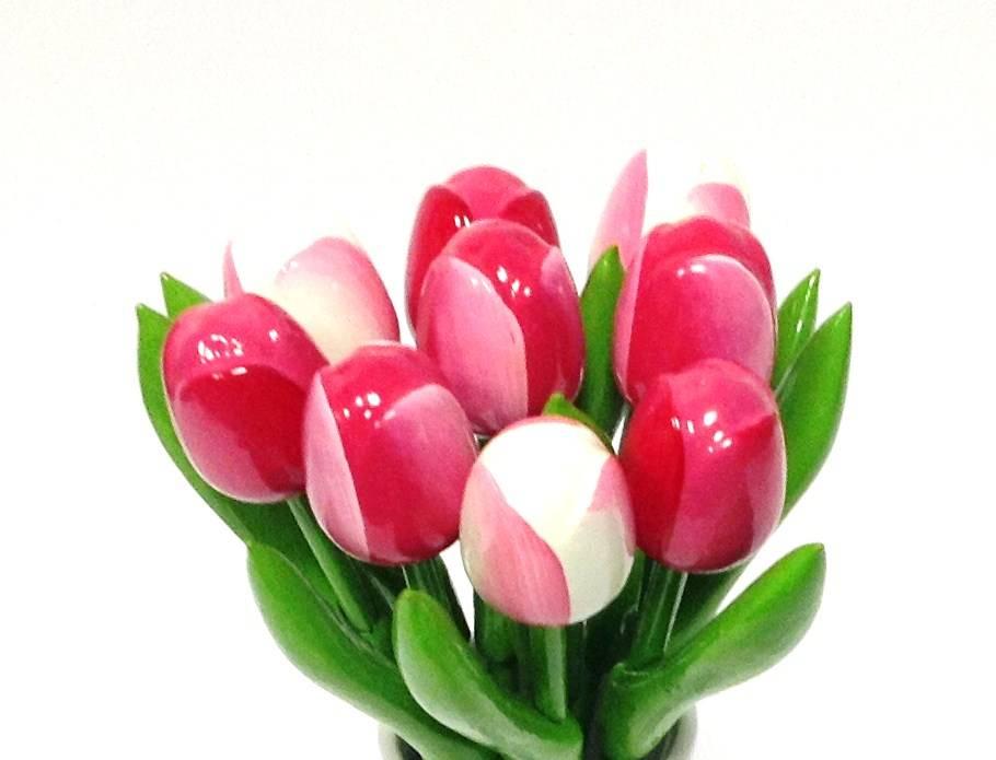 De mooiste houten tulpen in gevarieerde uitvoeringen
