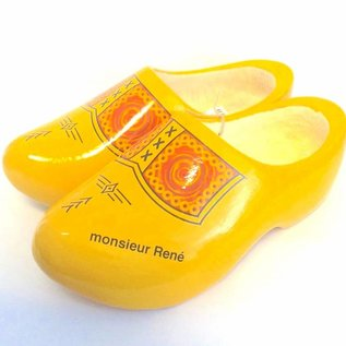 clogs with text