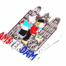 Magnet clip Amsterdam canal with bicycle tin