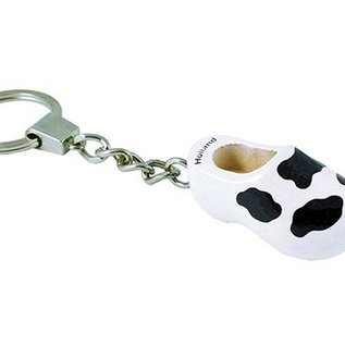 keychain with a wooden shoe 4cm cow