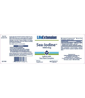 Life Extension Sea-Iodine Jod Supplement