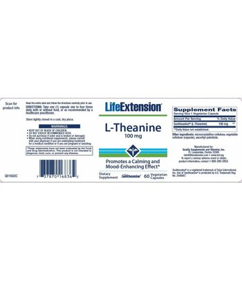 Life Extension L-Theanin 100mg