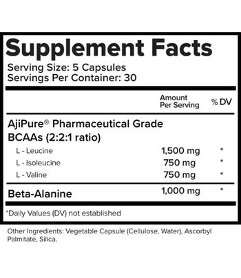 Natural Stacks Natural BCAAs capsules met Beta Alanine