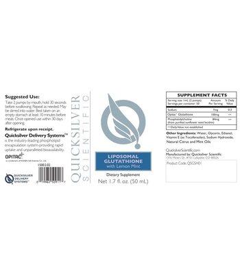 Quicksilver Scientific Liposomale Glutathion