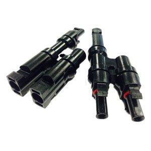 MC4 T-Splitterset M+F (2 naar 1) set