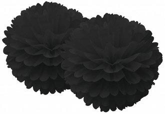 BLACK POM POM SET