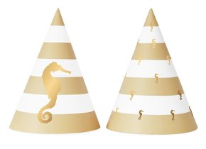 PREPPY SEAHORSE PARTY HATS