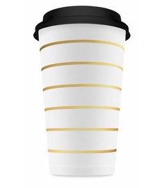 GOLD STRIPED CUPS TALL