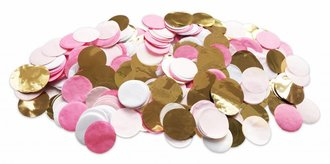 TABLE DECOR CONFETTI PINK GOLD