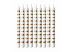 GOLD STRIPED PARTY CANDLES