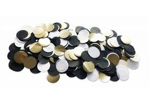 TABLE DECOR CONFETTI BLACK GOLD WHITE