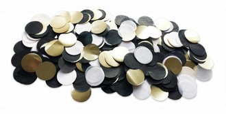 TABLE DECOR CONFETTI BLACK GOLD WHITE out of stock