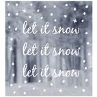 WINDOW STICKERS let it snow